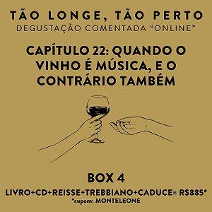 Box 4 - Degustações on-line 30/04 - Quando o Vinho é música, e o contrário também