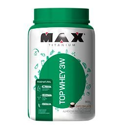 TOP WHEY 3W MAIS NATURAL 900G MAX TITANIUM