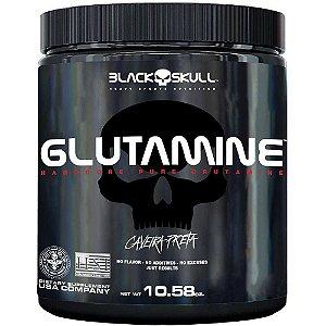 GLUTAMINA CAVEIRA PRETA - 300G - BLACK SKULL