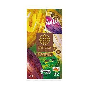 CHOCOLATE MENDOA 60% CACAU COM CAFE ORGANICO 80G