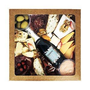 Platter / Caixa de Frios Média para até 04 pessoas c/ Espumante - Pedidos até 12h00 serão entregues no mesmo dia