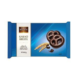 Biscoito Feiny Biscuits  Mini Pretzel Coberto com Chocolate Amargo 165g