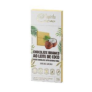 Chocolate Branco ao Leite de Coco 33% de Cacau Espírito Cacau 80g