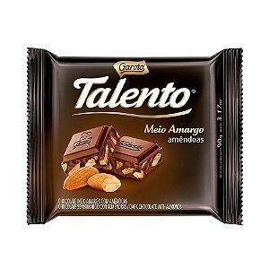 Chocolate Talento Garoto Meio Amargo Amêndoas 90g