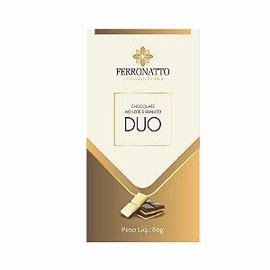 Chocolate Ferronatto Duo Ao Leite e Branco 80g