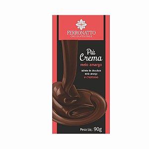 Chocolate Ferronatto Piu Crema Meio Amargo 90g