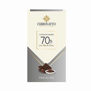 Chocolate Ferronato 70% Cacau com Nibs de Cacau 80g