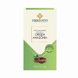 Chocolate Ferronato 62% Cacau Origem Amazônia 80g