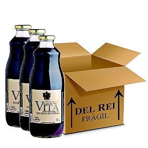 Suco De Uva Vita Tinto Integral 1l - Box Com 12 Unidades
