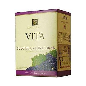 Suco De Uva Vita Tinto Integral Sem Açucar Bag In Box 5L