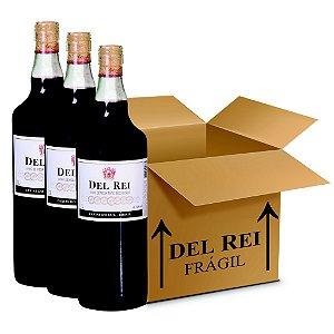 Vinho Colonial Del Rei Tinto Seco Bordo 1l - Box Com 12 Unidades
