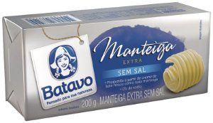 MANTEIGA EXTRA SEM SAL BATAVO 200G
