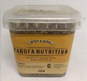 FAROFA NUTRITIVA GRAOS E GRAOS 250G