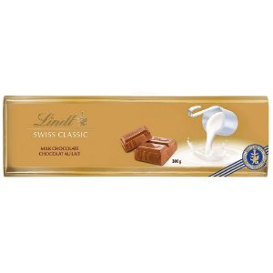 CHOCOLATE AO LEITE LINDT SWISS GOLD BAR 300G