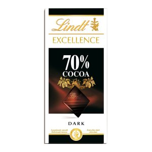 CHOCOLATE AMARGO LINDT EXCELLENCE 70% CACAU 100G