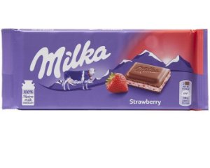CHOCOLATE MILKA STRAWBERRY 100G