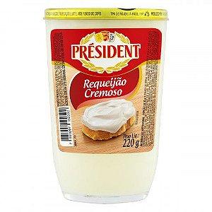 REQUEIJAO CREMOSO COPO VIDRO PRESIDENT 220G