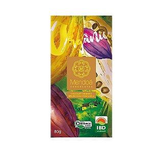 CHOCOLATE MENDOA 60% CACAU COM CANELA ORGANICO 80G