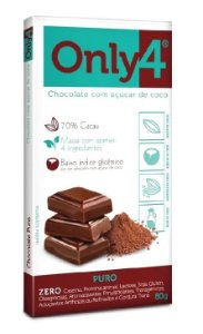 CHOCOLATE ONLY4 PURO 80G