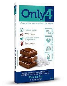 CHOCOLATE ONLY4 FLOR DE SAL 80G