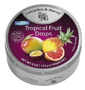 BALAS  SUGAR FREE TROPICAL FRUIT CAVENDISH E HARVEY 175G