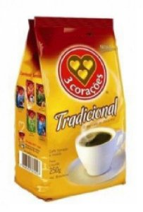 CAFE 3 CORACOES TRADICIONAL STAND PACK 250G