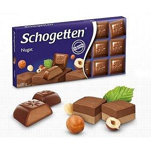 CHOCOLATE PRALINEE NOUGAT SCHOGETTEN 100G