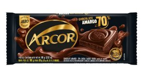 CHOCOLATE ARCOR 70% AMARGO 80G