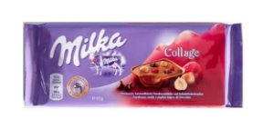 MILKA COLLAGE AVELA E FRAMBOESA 93G