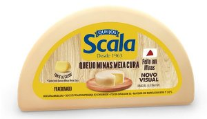 QUEIJO MINAS MEIA CURA SCALA MEIA PEÇA APROX 600G