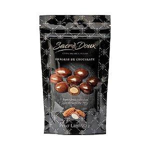 Drageas Sacre Doux Amendoas Coberta com Chocolate 70% 90g
