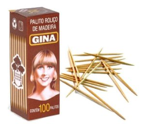 Palito Gina Caixinha 100 unidades