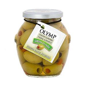 Azeitonas Verdes Gregas Mamute Olymp com Pimentão 200g