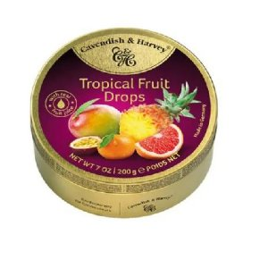 BALAS DE FRUTAS TROPICAIS CAVENDISH E HARVEY 200G