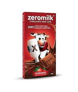 CHOCOLATE VEGANO ZEROMILK MORANGO 80G