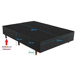 Base Box Para Colchão Cristalflex Perola Negra