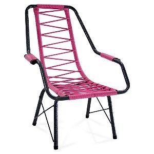 Cadeira De Area Fabone Infantil Rosa