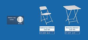 Conjunto De Mesa Wrm Infantil Com 2 Cadeira
