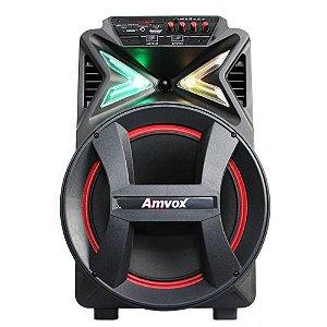 Caixa Amplificada Amvox Com Bateria Aca 292