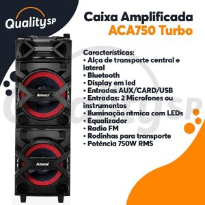 Caixa Amplificada Amvox Aca750
