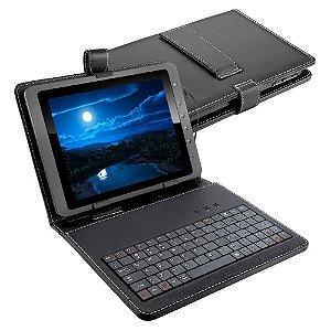 Capa Para Tablet Com Teclado Multilaser Tc 155 Preta