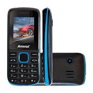 Celular Amvox Ax2002 Preto Com Azul