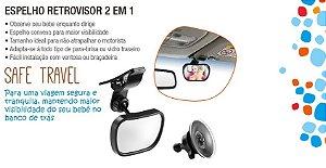 Espelho Retrovisor 2 Em 1 Safe Travel Multilaser Bb180