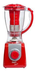 Liquidificador Faet Útil Vermelho 220v