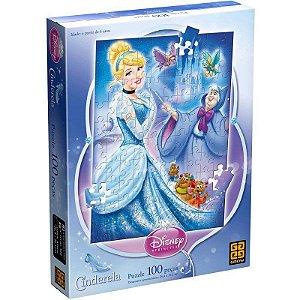 Quebra Cabeça (Puzzle) 100 peças Cinderela - Grow