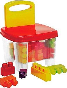 Cadeira Smoby Bricks e Klicks - Gulliver