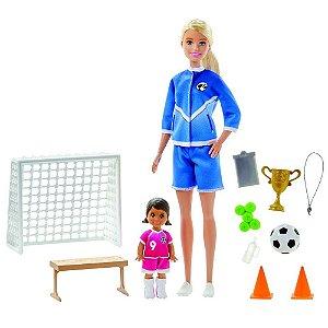 Boneca Barbie Jogadora De Futebol Com Playset - Mattel