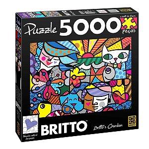 Quebra Cabeça Romero Britto - Brito's Garden 5000 Peças - Grow