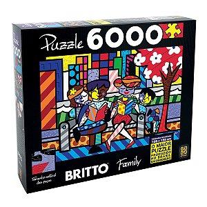 Quebra Cabeça Romero Britto - Family 6000 Peças - Grow