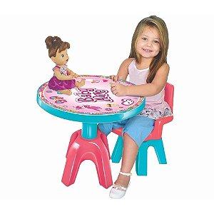 Kit Mesa E Cadeira Infantil Baby Alive- Líder Brinquedos